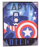 "Marvel Captain America Canvas Print Wall Art Home Decor 20"" x 16"" NEW"