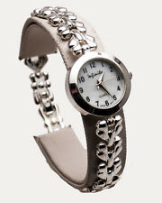 INFINITY: WOMENS STERLING SILVER 925 VEE LINKS ANALOG QUARTZ WATCH