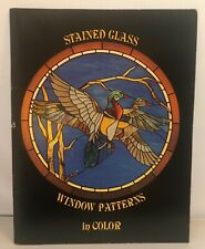 Stained Glass Window Patterns in Color 1979 Hidden House Pub Used Good Condition