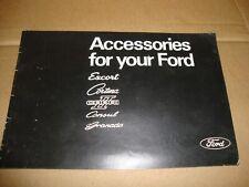 Ford Accessories 1974-75 UK Market Brochure Escort Cortina Capri Consul Granada