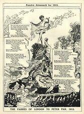 "RARE ARTHUR RACKHAM ILLUSTRATED POEM - ""Fairies of London to Peter Pan"" 1912"