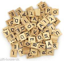 200 Madera Scrabble Negro letras y números Figuritas manualidades madera GB Sell