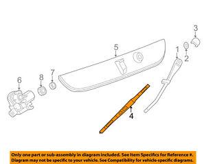 GM OEM Wiper-Rear Window Blade 22956295