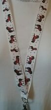 HORSE + BUTTERFLIES lanyard safety clip ID badge holder handmade student gift