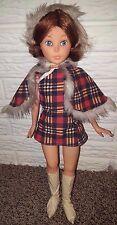 """Vintage Hong Kong 60's Furga Sheila Italy clone doll 17"""" vinyl tall"""