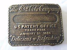 Vintage HEAVY COCA COLA BOTTLE COMPANY BRASS BELT BUCKLE J. WILLARD PHILA COKE