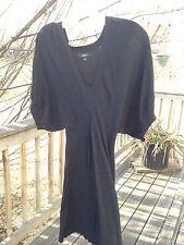 Express Wool Fleece Black Winter Sweater Dress Size S :)