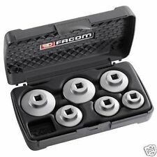 Facom Tools 6 Piece Low Profile Fuel Oil Filter Wrench Sockets + Storage Case