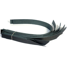 Leather Strap Scrap Bundle Black 1.5 inch wide - 7/8oz 0003