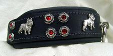 Halsband Französische Bulldogge unser Leder ist rein pflanzliche gegerbt Neu