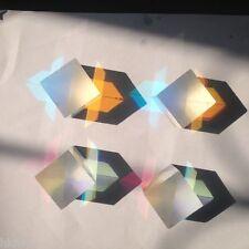 4pcs 25X25X27mm X-cube Defective Prism Physics Teaching Tools/DIY Decoration