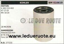 """277233 Ölfilter Motor Kohler K 482 532 662 KT 17 19 Mv 18 20 123x76 3/4 """""""
