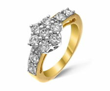 Cluster Yellow Gold SI2 Fine Diamond Rings