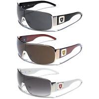 Mens Fashion Aviator Shield Sunglasses Khan Premium Discount Designer Glasses
