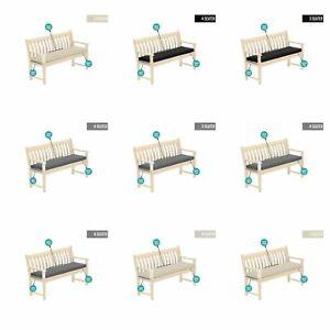 Outdoor Waterproof Fabric 2 & 3 Seater Bench Pad Garden Furniture Seat Cushion