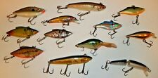 MIXED LOT 11 VINTAGE LURES RAPALA FINLAND LS RATTLERS Near MINT
