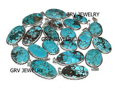 5pcs Natural Turquoise Gemstone Pendants Wholesale Lot 925 Silver Overlay wh-40