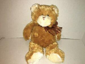 "Orginal GANZ Taffy Apple Bear Tan Brown 15"" Teddy Bear Plush Stuffed Animal"