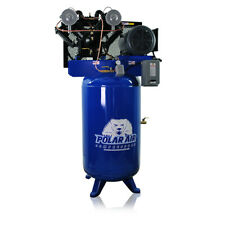 75 Hp Air Compressor Pressure Lubricated 2 Stage Single Phase V4 80 Gallon