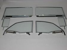 55 56 57 Chevy Pontiac Convertible Clear Vent Door Quarter Glasses Assembled(Fits: Pontiac)