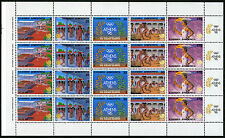 Greece 1623-1627a sheet, MI 1687-1691, MNH. Olympics Seoul. Ancient Olympia,1988