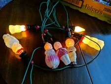 6 Vintage Milk Glass Figural Light Bulbs Christmas Snowman, soldier
