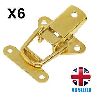 6x QUALITY Brass Toggle Catch Tool/Cabinet/Suitcase/Box/Cupboard Clip Case Lock
