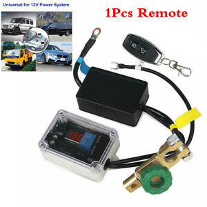 Single Remote Control Car Battery Isolator Disconnect Cut Wireless Master Switch
