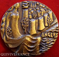 MED3743 - MEDAILLE VILLE D'ANGERS par POULIN  - atribuée à un Général