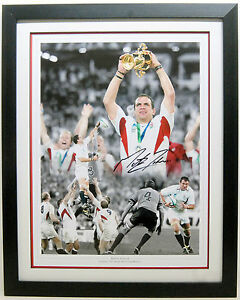 Martin JOHNSON SIGNED Autographed FRAMED RUGBY 16x12 Montage Photo COA AFTAL