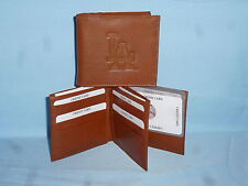 LOS ANGELES DODGERS   Leather BiFold Wallet    NEW    brown 4 +