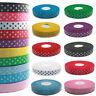 Grosgrain Ribbon Polka Dot Design 25mm/2.5cm Width 10+ Colours Crafts Gift DIY