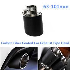 Car SUV Akrapovic Style Real Carbon Fiber Exhaust Muffler Pipe Tip Head 63-101mm