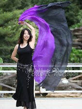 "1pc 2.7m*1.1m (9'x45"") 2-color 5 mommes belly dance silk veil, rolled edges+bag"