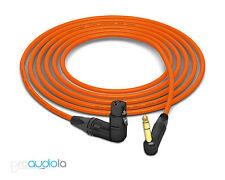 Mogami 2534 Quad Cable | Neutrik Gold 90º TRS to 90º XLR-F | Orange 1 Feet 1 ft.
