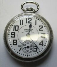 23j Pocket Watch Running Antique Waltham Premier Vanguard 16s