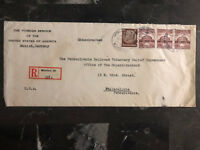1938 Munich Germany American Consul Cover To Philadelphia PA USA Diplomatic mail