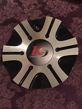 1 K9 Wheels Black and Machined Center Cap Part# 319-20-AL  Stock# 1673