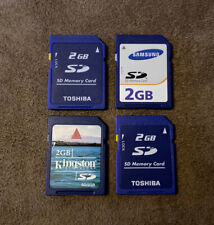 Lot Of 4 2GB SDHC SD Cards! Toshiba Samsung Kingston! Cameras Wii 3DS Computers!