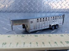 1/64 tractorfab high detail farm toy 5th wheel 28' 2 axle livestock trailer ertl
