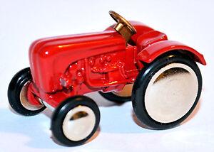 Porsche Tractor Diesel Red 1:90 Schuco Piccolo 01541