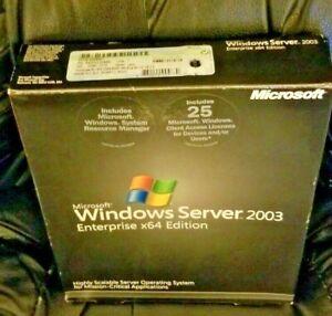Microsoft Windows Server 2003 Enterprise x64 Edition with 25CALs, SKU P72-00981
