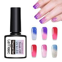 LEMOOC 12ml Nagel Gellack Thermo Color Changing Soak off Nail Art UV Gel Polish
