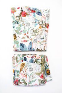 Michelle Morin Anthropologie Womens Animal Print Sleep Set White Size X Small