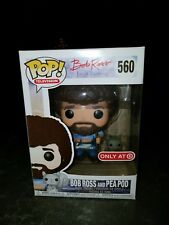 Bob Ross and Pea Pod Funko Pop Target Joy of Painting with Pop Protector