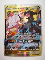 157/236 pokemon carte holo Anglaise replica FAN CARD Reshiram & Zekrom