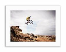 Mountain BIKE JUMP CIELO BIG AIR SPORT FOTO STAMPE SU TELA ART