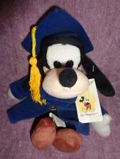 Goofy Blue Graduation Gown & Grad Nite Hat Stuffed Plush Bean Bag Disney Dog
