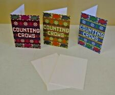 Counting Crows Concert Christmas Cards Lot of 3 Long December Themed w Envelopes