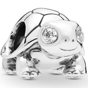 Original PANDORA® Charm Element 797878 CZ Turtle Schildkröte Silber Bead